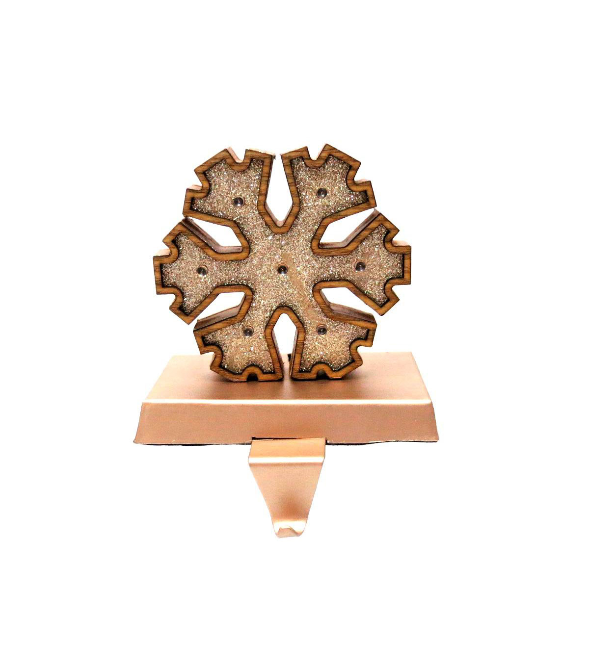Maker\u0027s Holiday Snowflake Stocking Holder-Copper