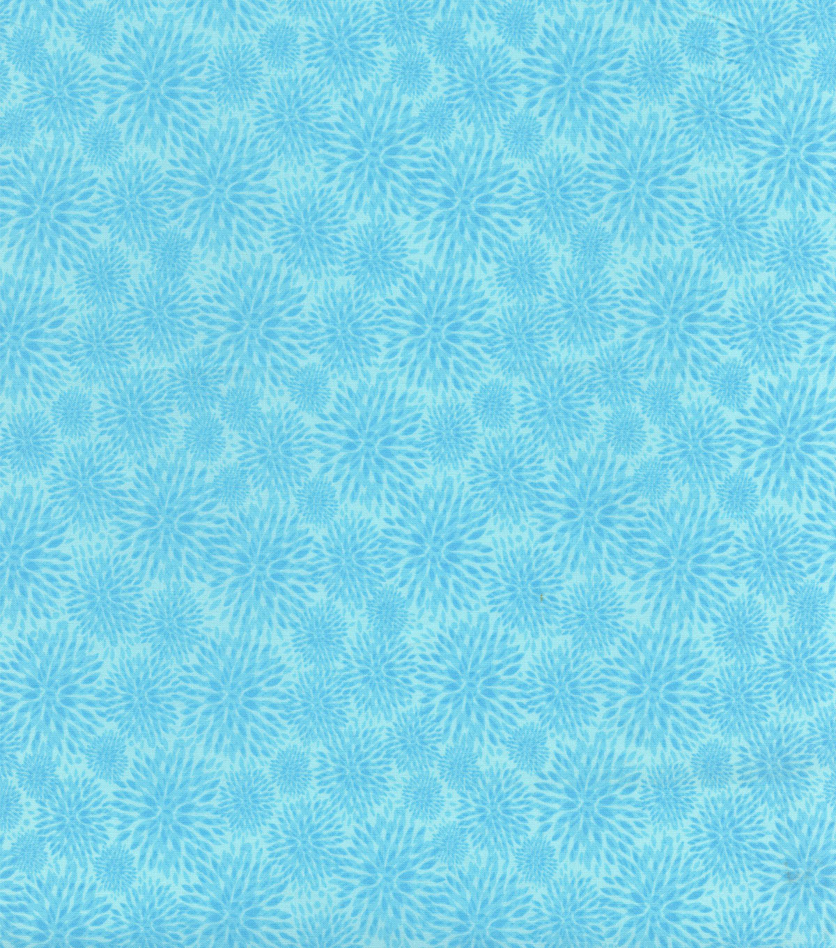 "Hi Fashion Premium Quilt Fabric 44""-Blue Mum Burst"
