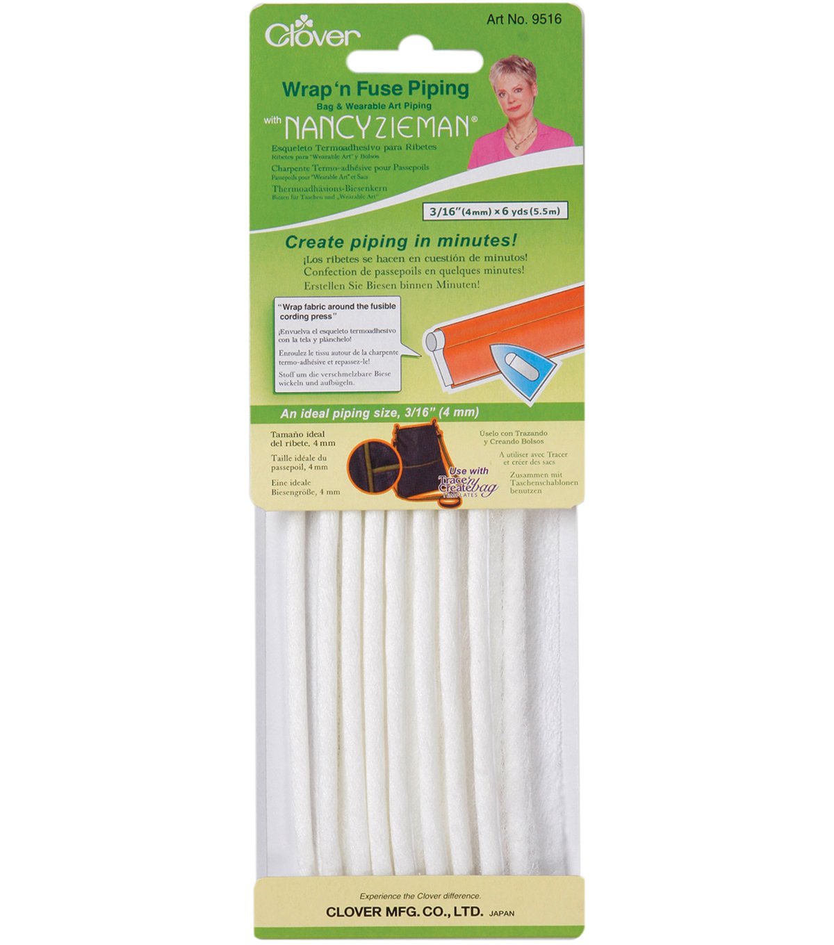 "Nancy Zieman 3/16""x6 yard Wrap 'n Fuse Piping-1PK"