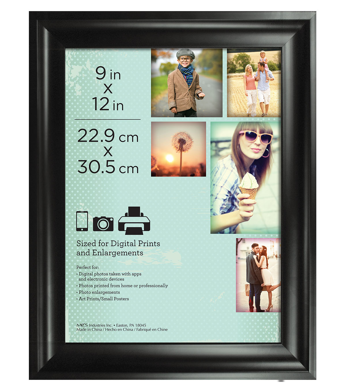 Wall Frame 9X12-Deep Scoop Black