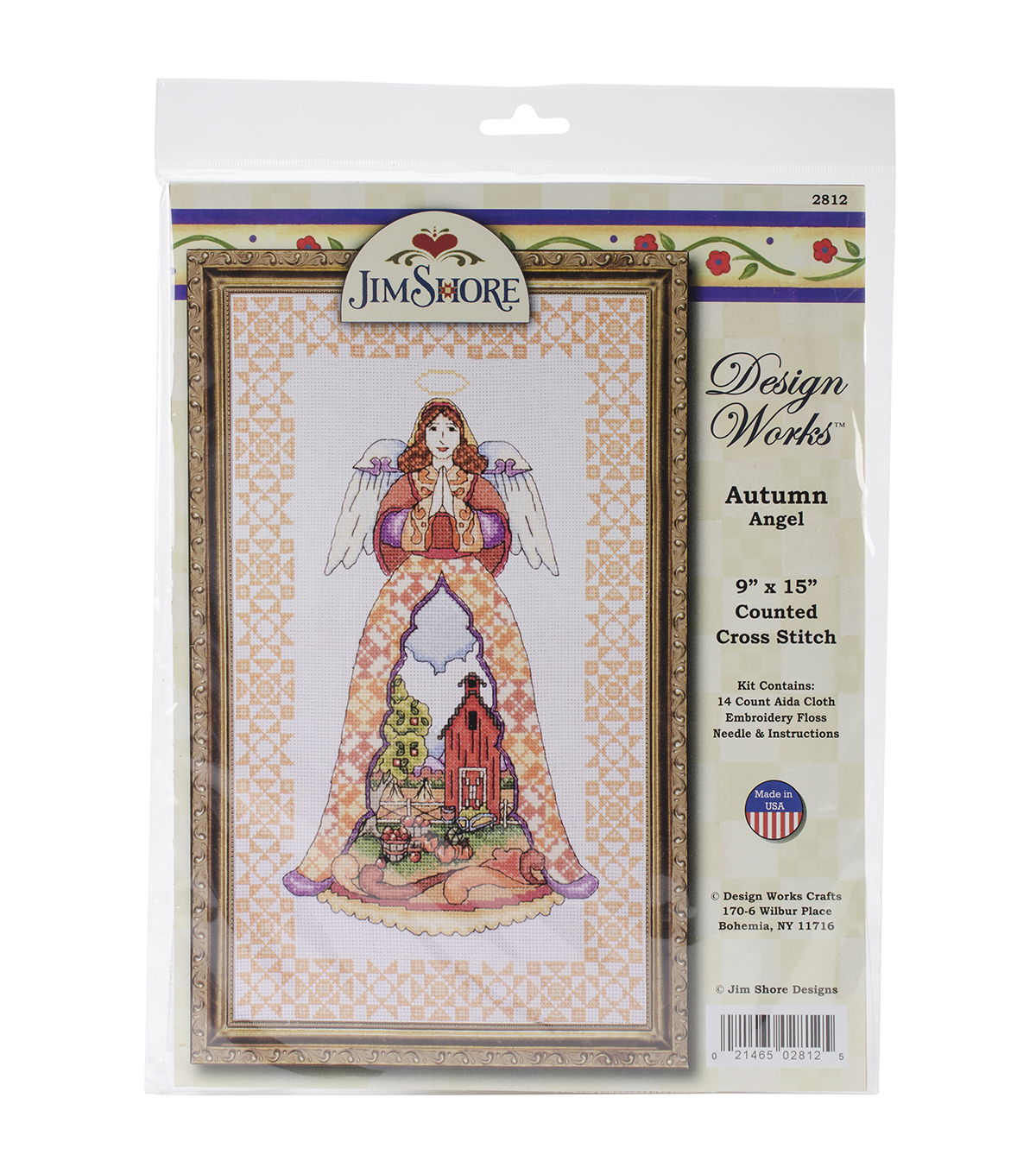 "Autumn Angel-Jim Shore Counted Cross Stitch Kit-9""X15"" 14 Count"