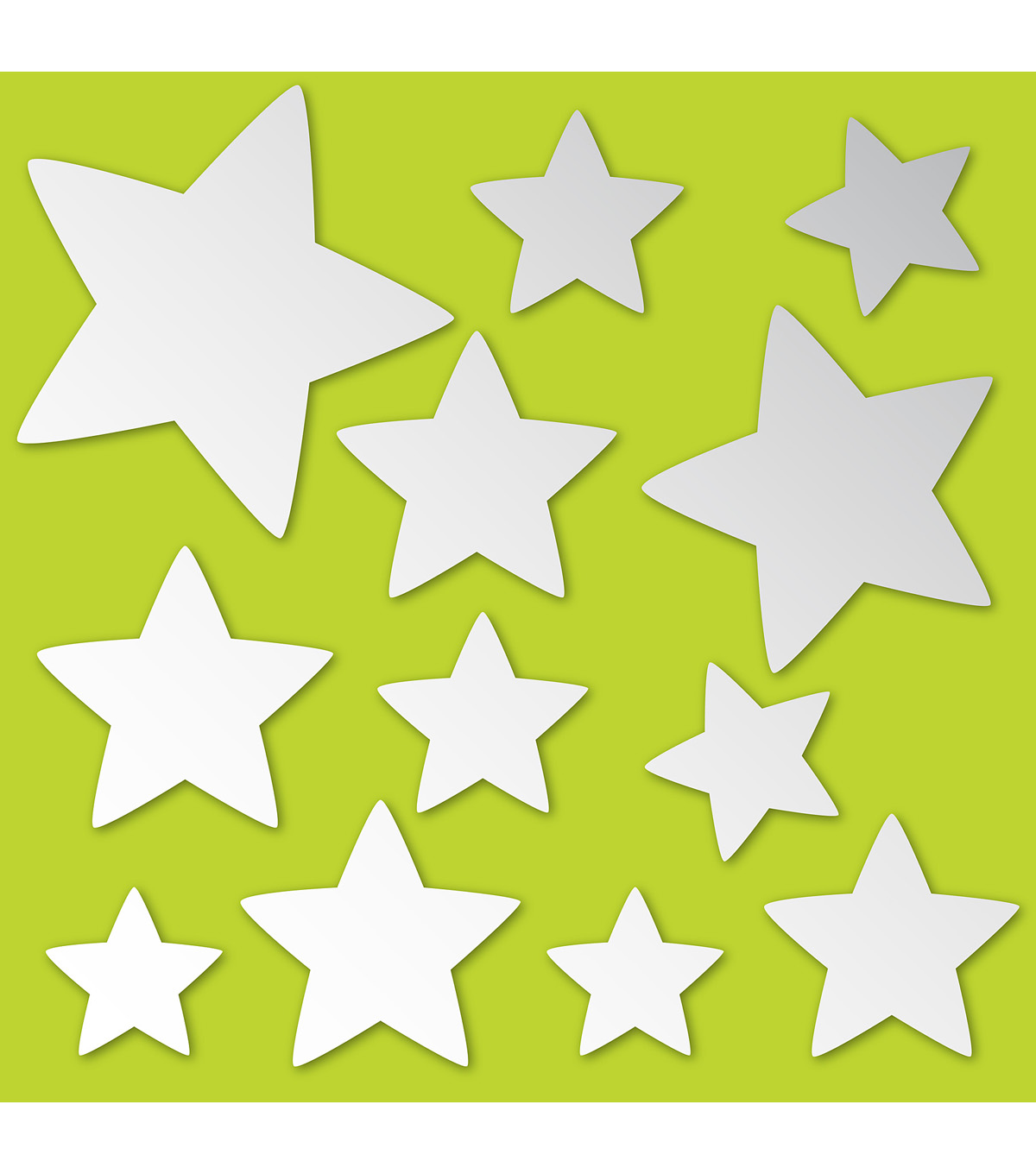 Decorative wall decor wall hangings stickers joann wall pops stars peel and stick mirror art 12 piece set amipublicfo Images