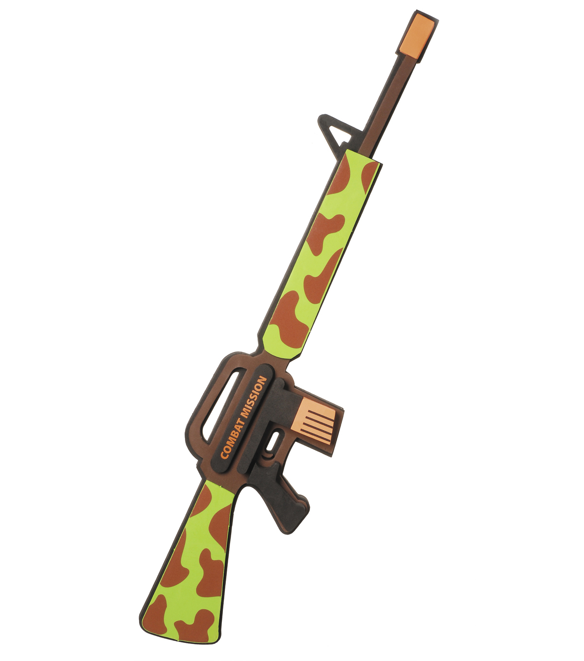 All Foam Toy Army Rifle with Camouflage Design