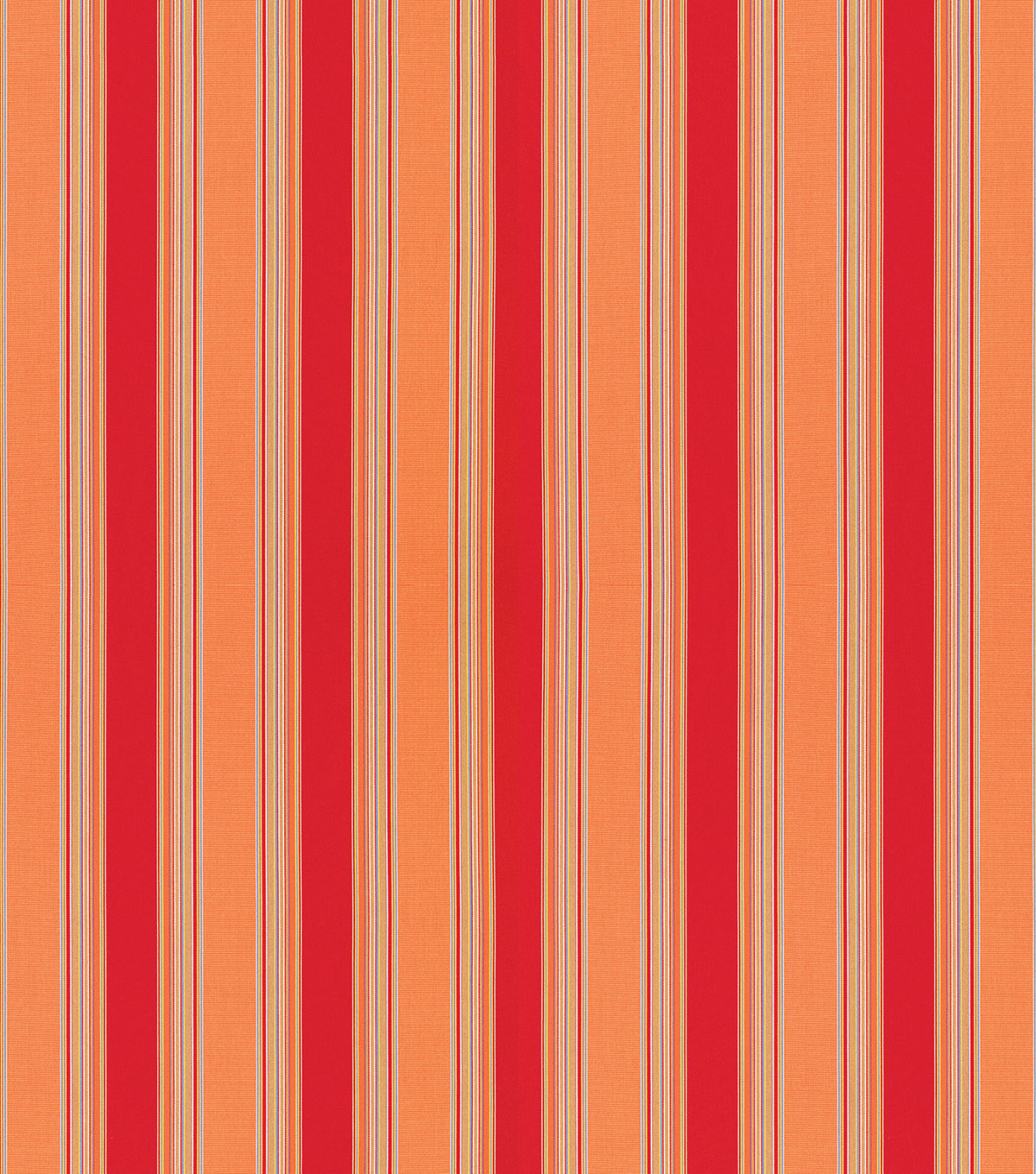 Sunbrella Outdoor Stripe Fabric 54\u0022-Bravada Salsa