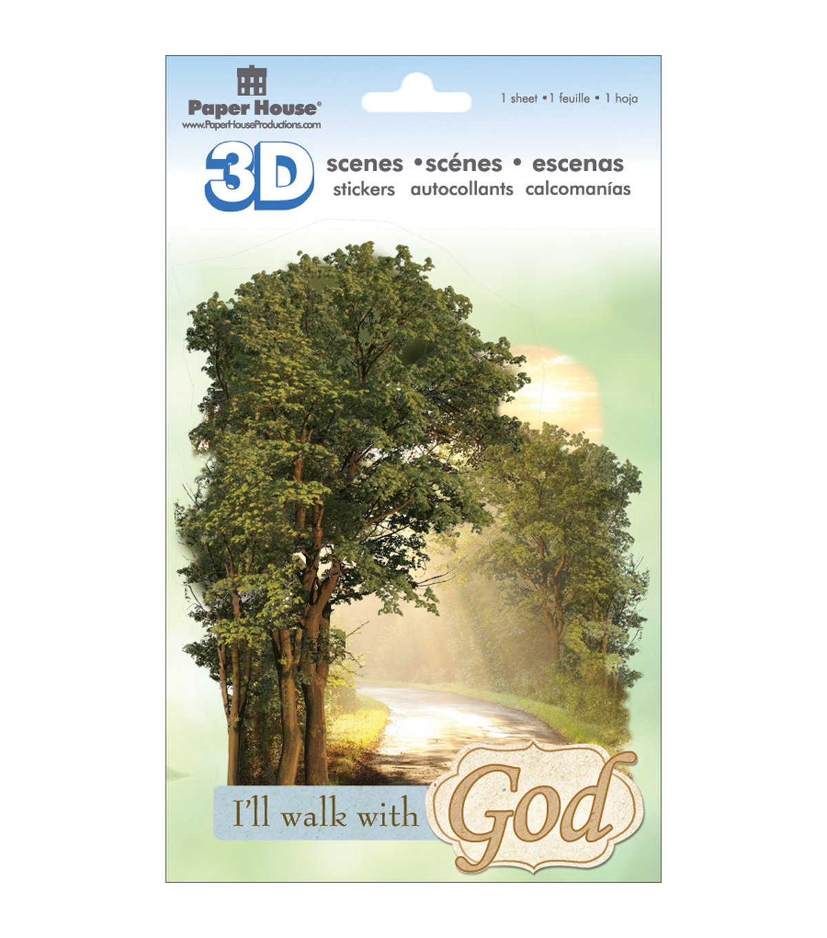 Paper House 3D Stickers Walk With God