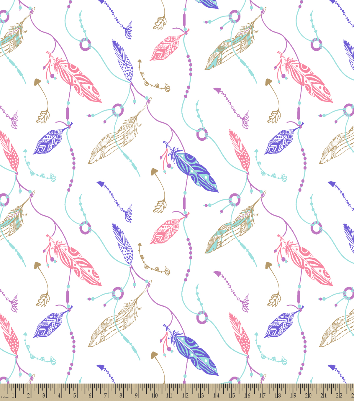 Feathers & Arrows Print Fabric