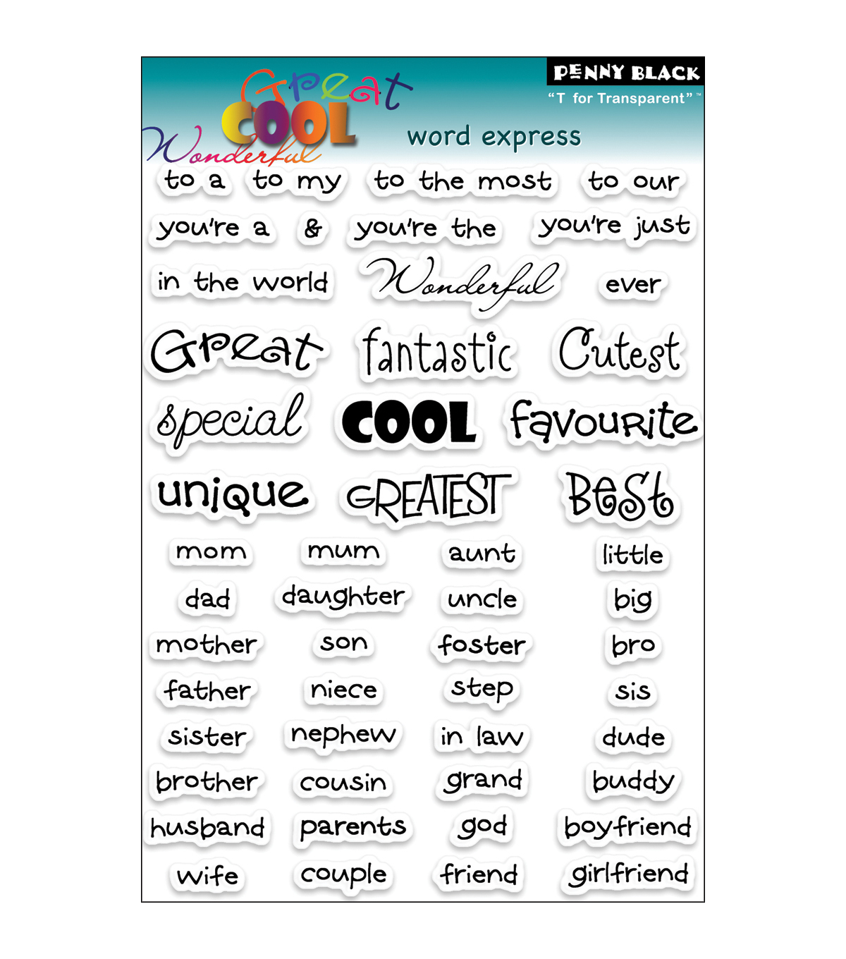 Penny Black Clear Stamps 5\u0022X7.5\u0022 Sheet-Words Express