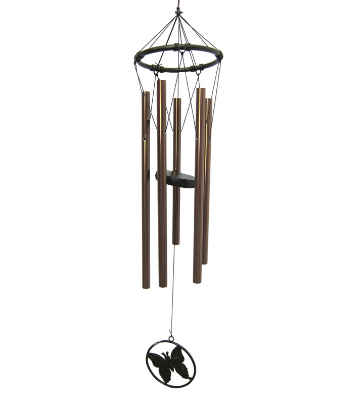 Wild Blooms Metal Wind Chime with Butterfly