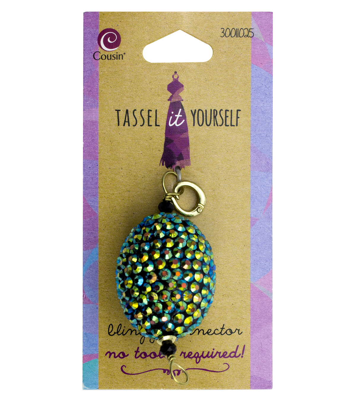 Cousin® Tassel It Yourself Oval Chamballa Connector-Green & Blue