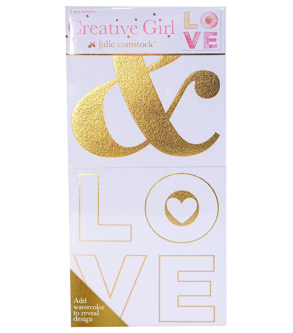 Creative Girl by Julie Comstock™ Watercolor Canvas Block Ampersand Love