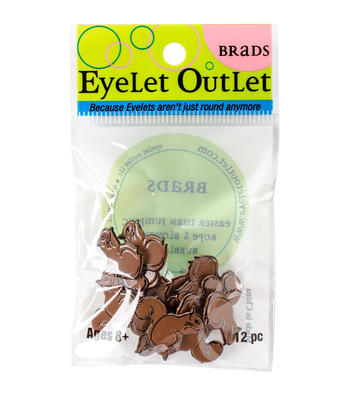 Eyelet Outlet Brads-Squirrel