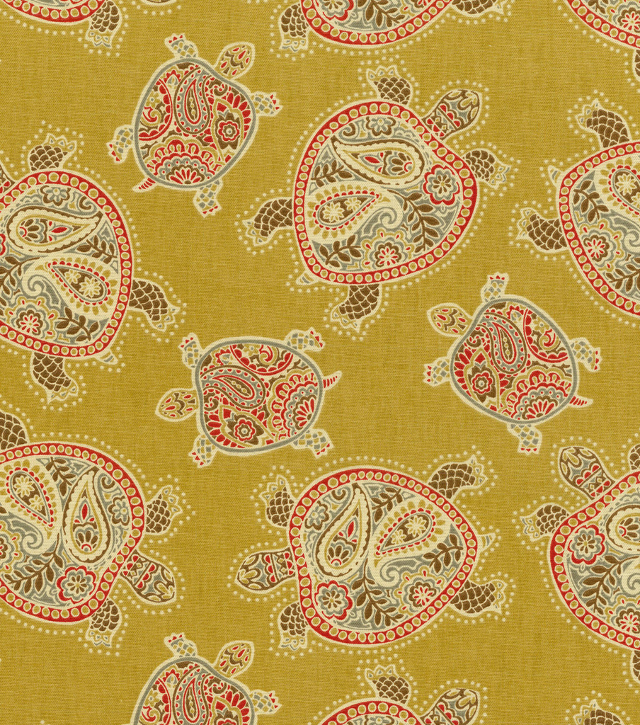 "Tommy Bahama Print Fabric 54""-Tranquil Turtles/Nutmeg"