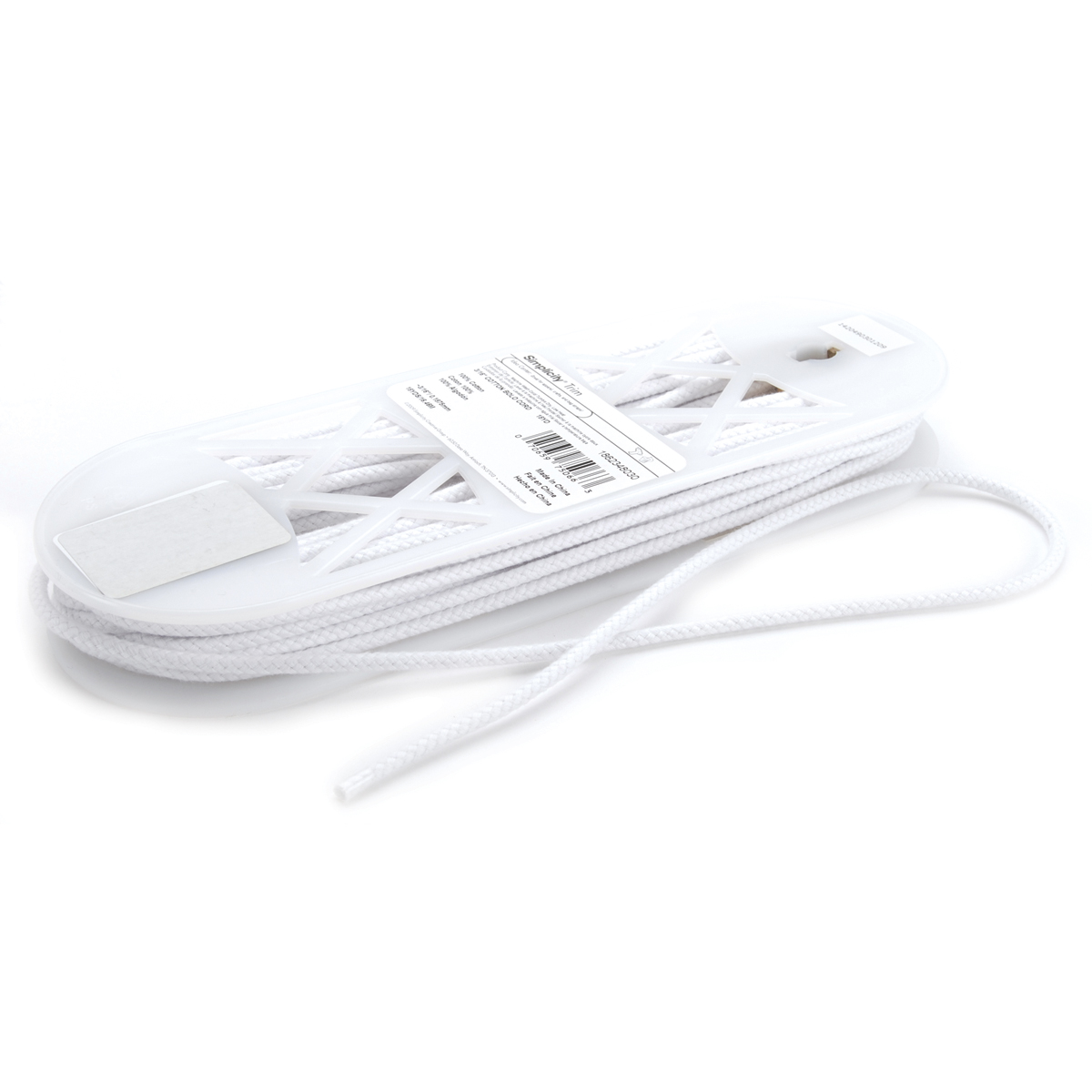 Cotton Bolo Cord 3/16\u0022 Wide 18 Yards-White