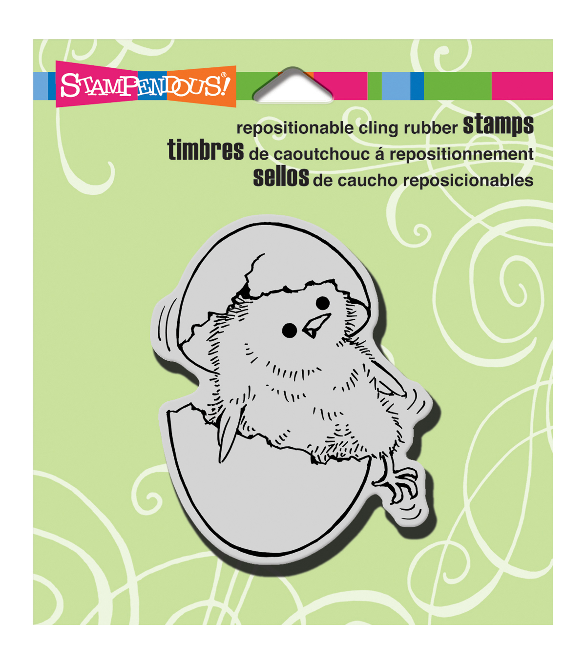 Stampendous Just Hatched Cling Rubber Stamp Sheet