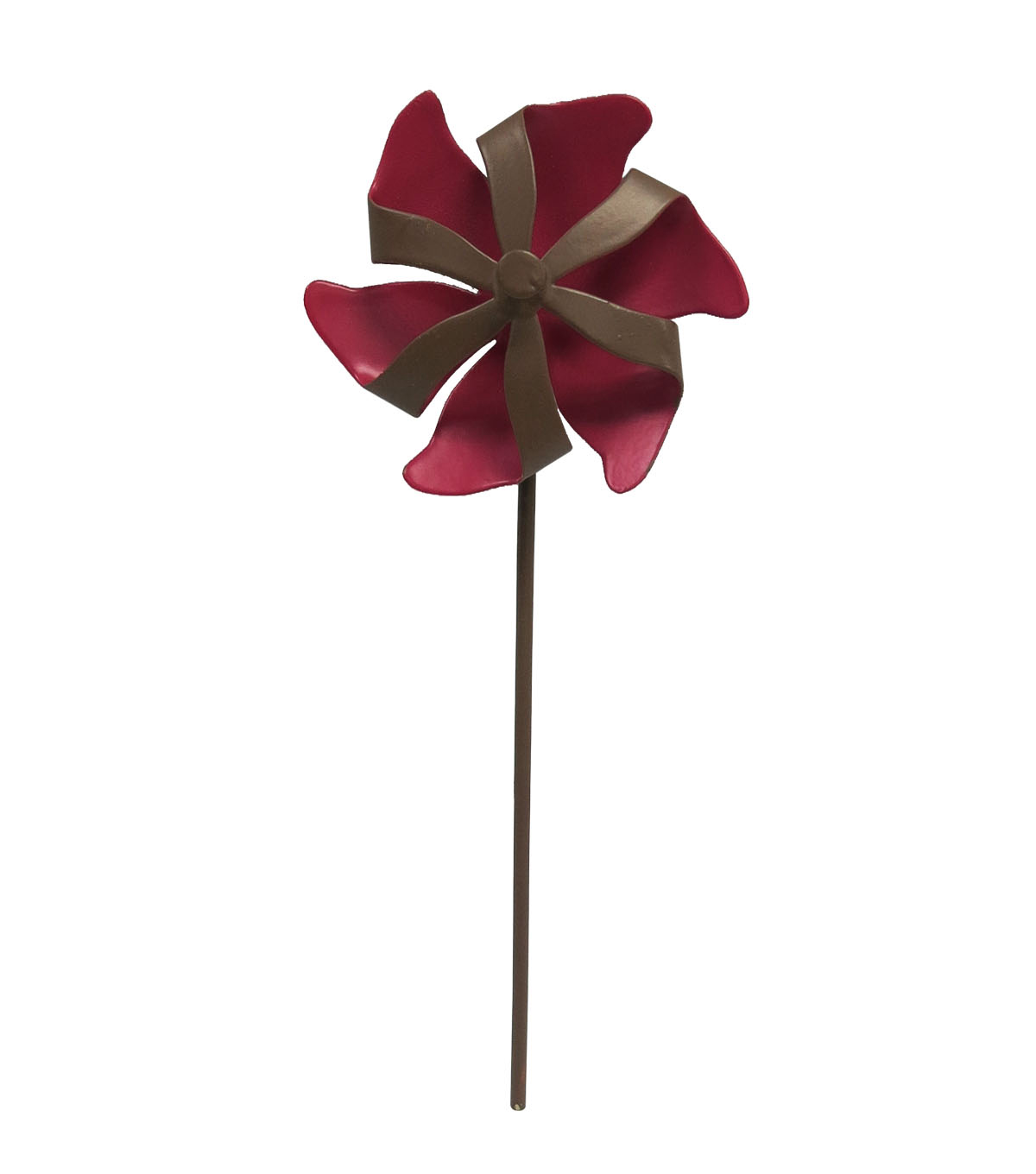 Fairy Garden Metal Pinwheel-Red