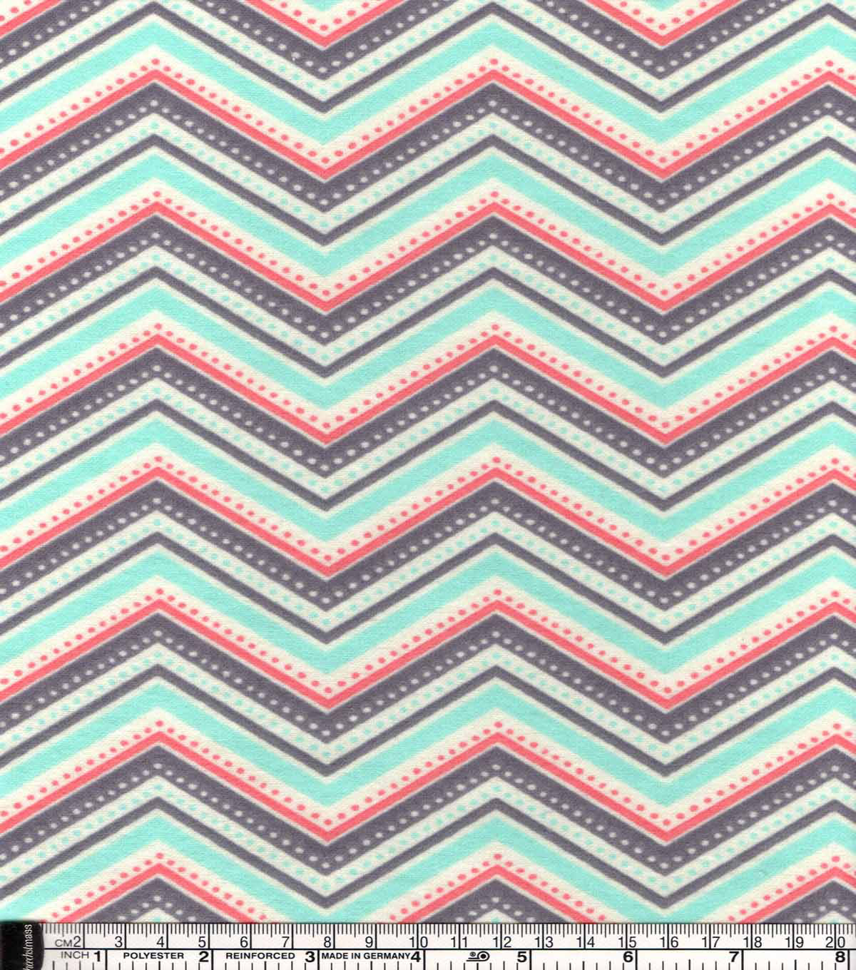 "Snuggle Flannel Fabric 42""-Coral Dotted Chevron"