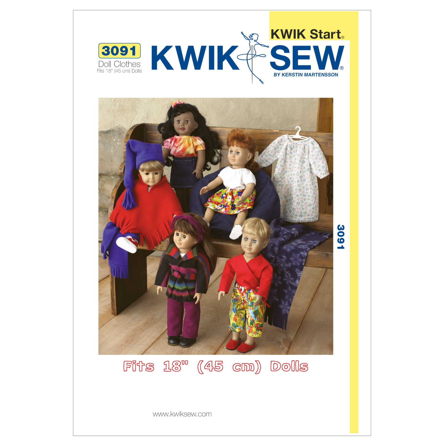 Kwik Sew Crafts Doll Clothes-K3091