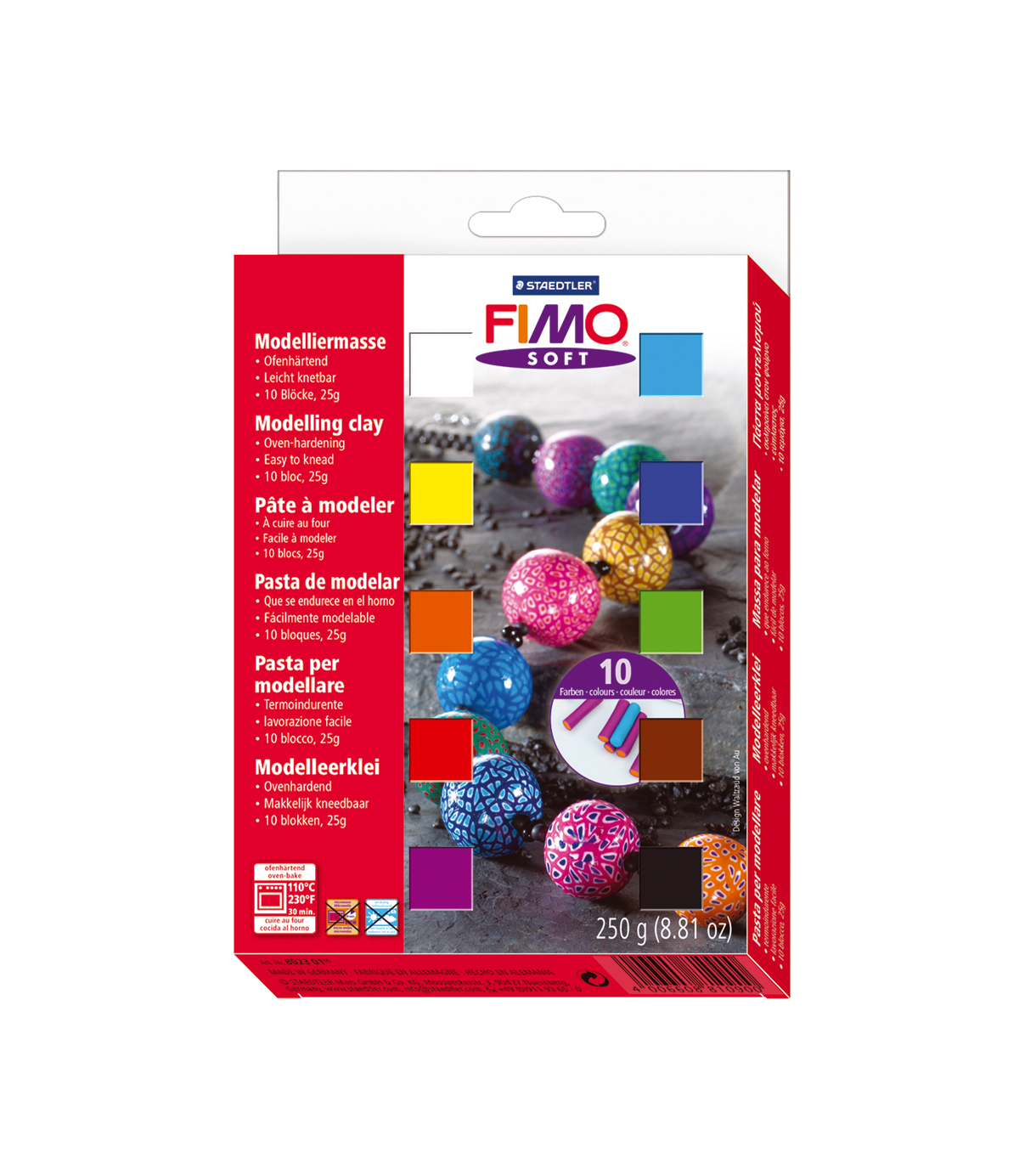 Fimo Soft Set 10 count Half Blocks
