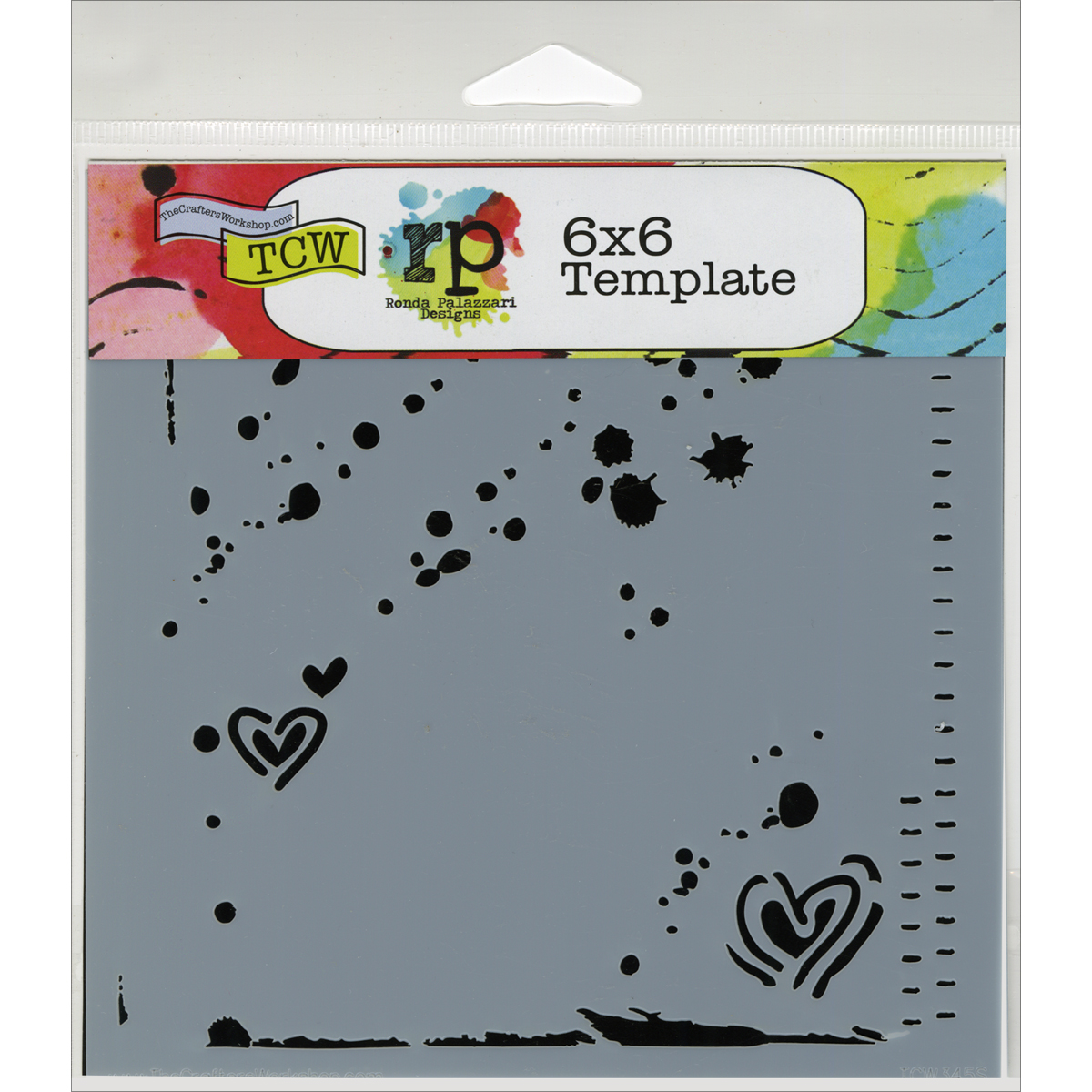 Crafter\u0027s Workshop Templates Confetti 6\u0022 x 6\u0022