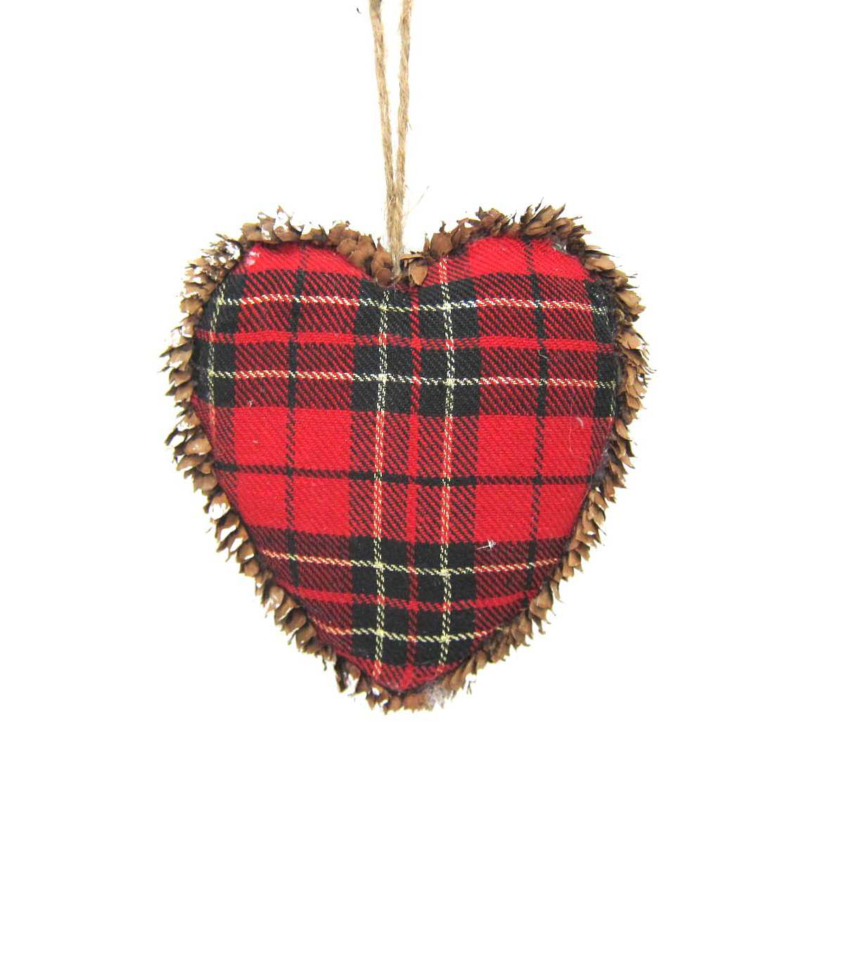 Maker's Holiday Plaid Heart Ornament