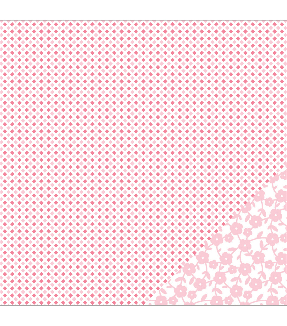 American Crafts Basics Diamond Light Pink Double-Sided Cardstock