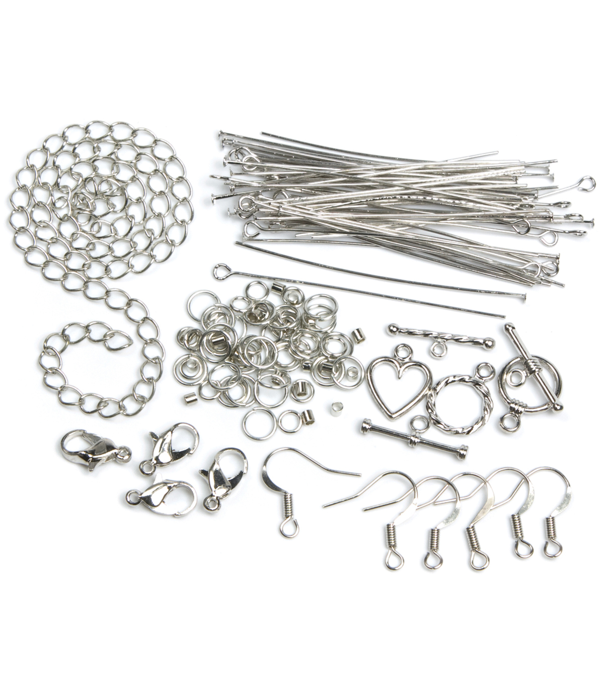 Jewelry Basics Assorted Findings Starter Pack Silver