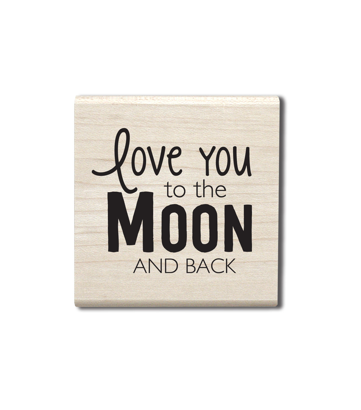 Hampton Art™ Wood Stamp-Moon and Back