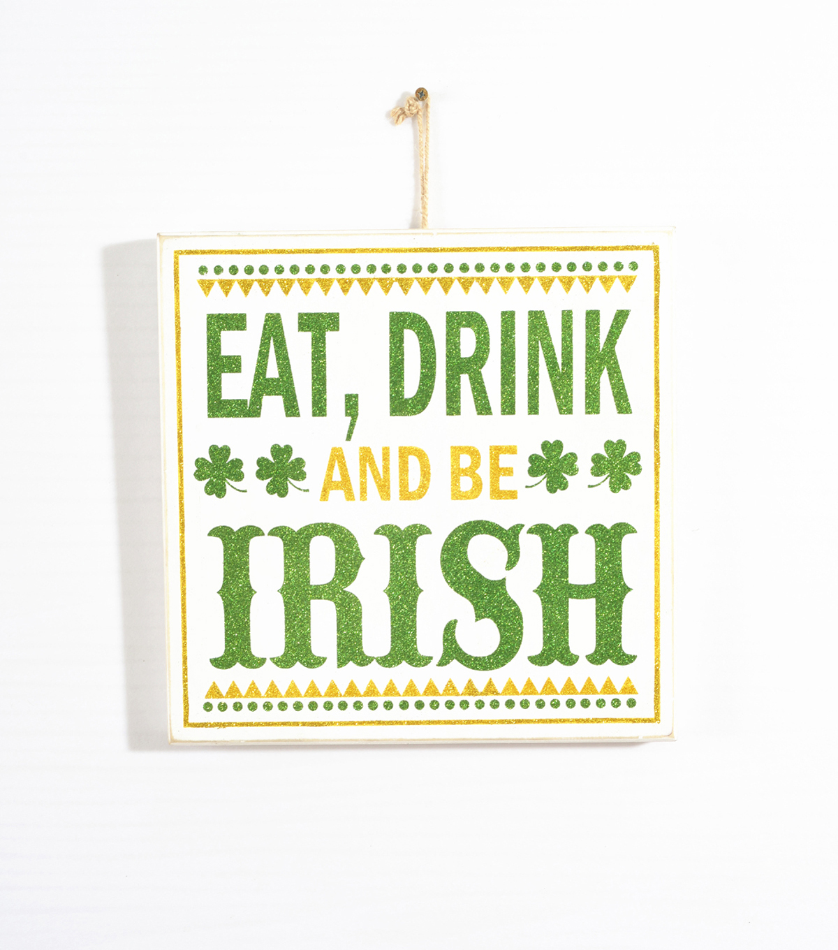 St. Patrick\u0027s Day Wooden Wall Decor-Eat Drink And Be Irish