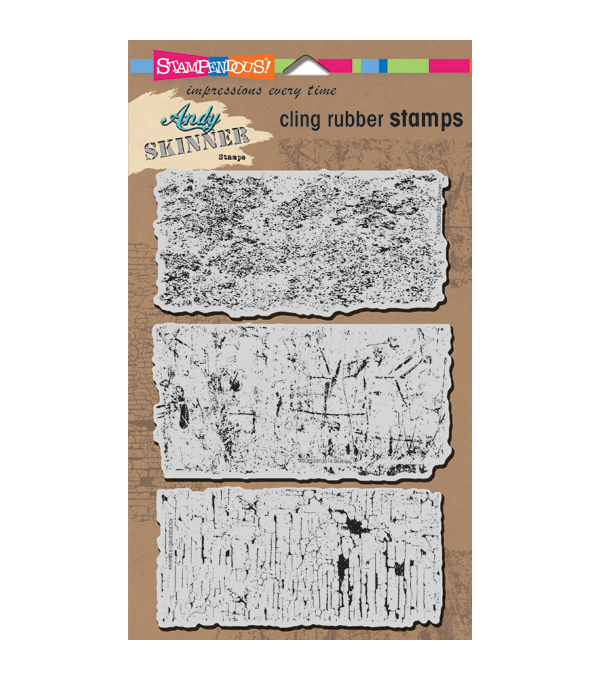 "Stampendous Andy Skinner Cling Stamp 5""x7"" Sheet -Industrial Set"