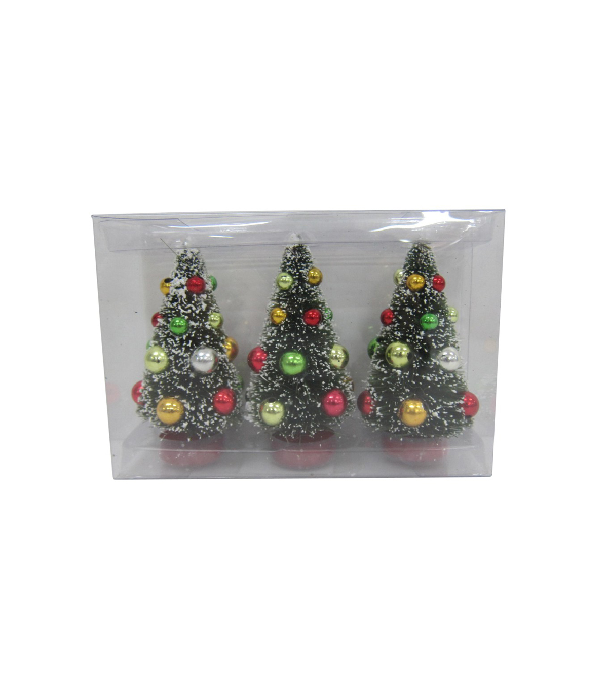 Maker's Holiday Christmas 3 Pack Trees with Ornaments-Red & Green