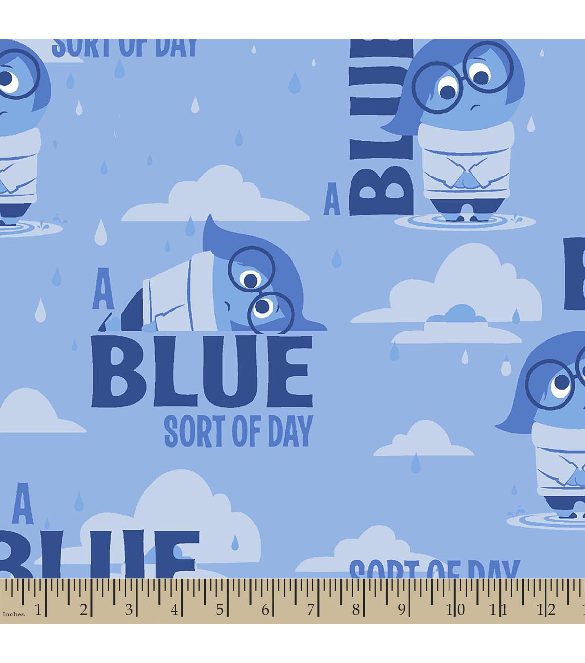 "Disney® PIXAR Inside Out Print Fabric-Sadness ""A Blue Sort Of Day"""