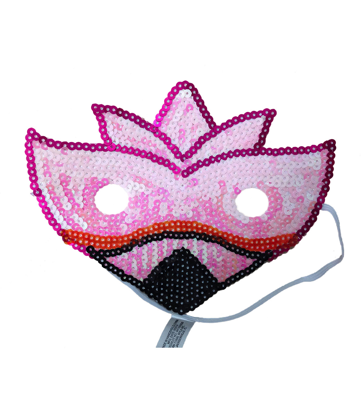Maker\u0027s Halloween Child Sequin Mask-Flamingo