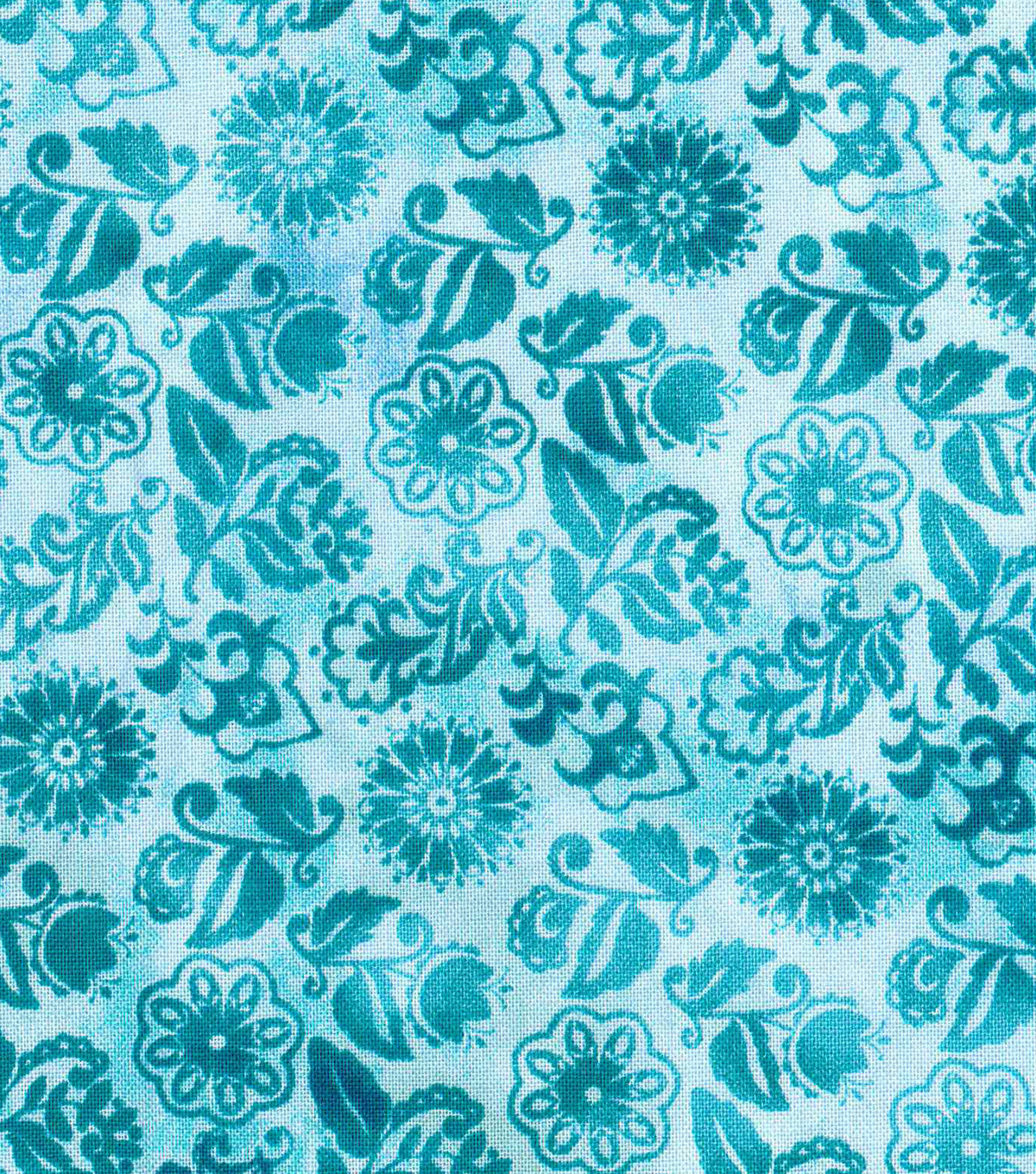 "Keepsake Calico™ Cotton Fabric 43""-Peacock Small Floral"