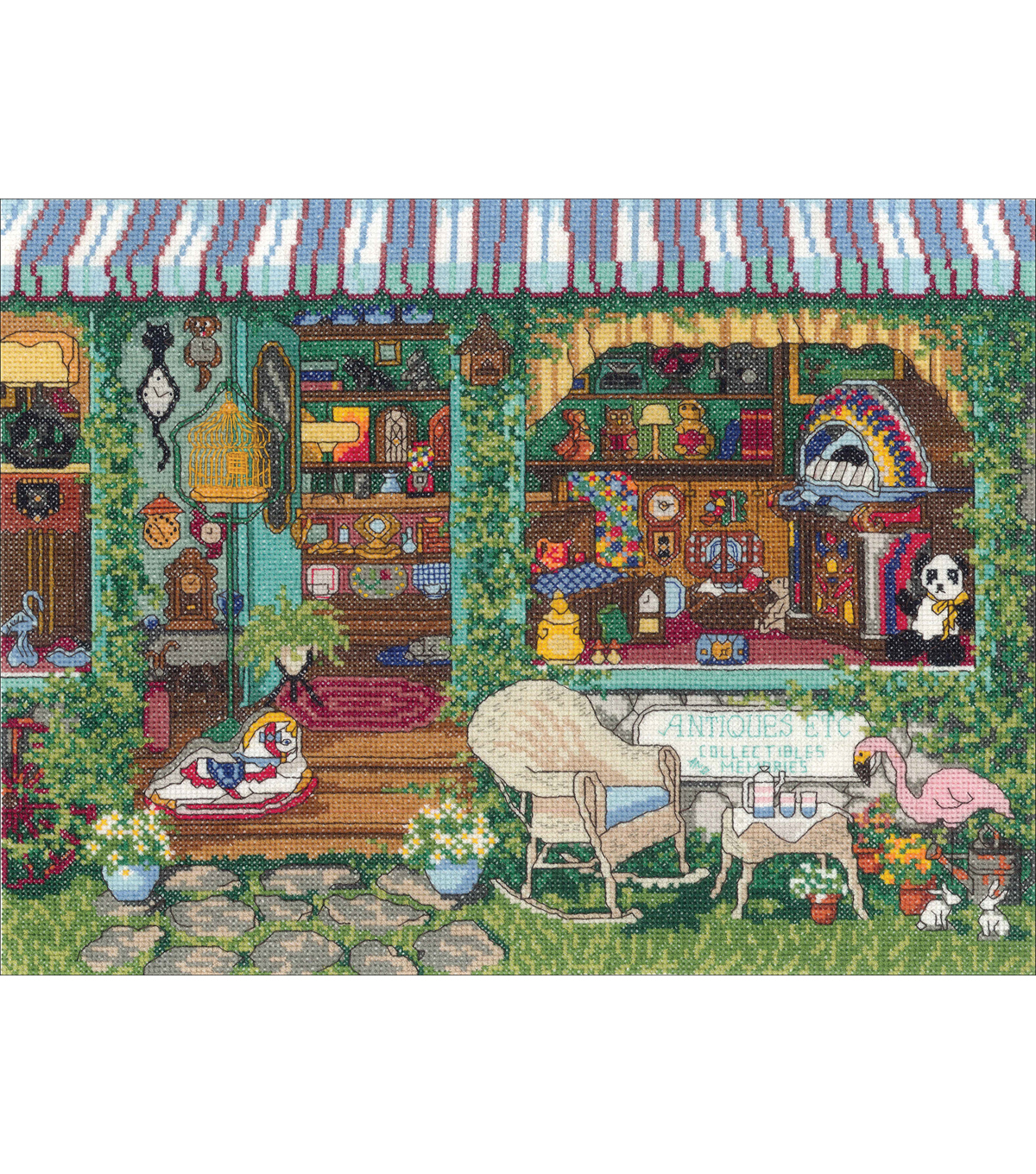 Antiques Counted Cross Stitch Kit-14\u0022X11\u0022 14 Count