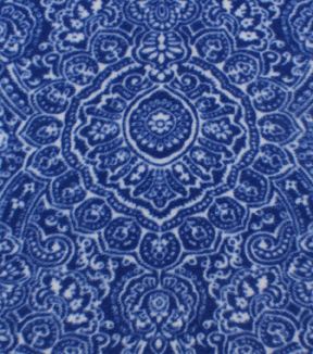 "Anti-Pill Fleece Fabric 59""-Navy Ink Stamp"