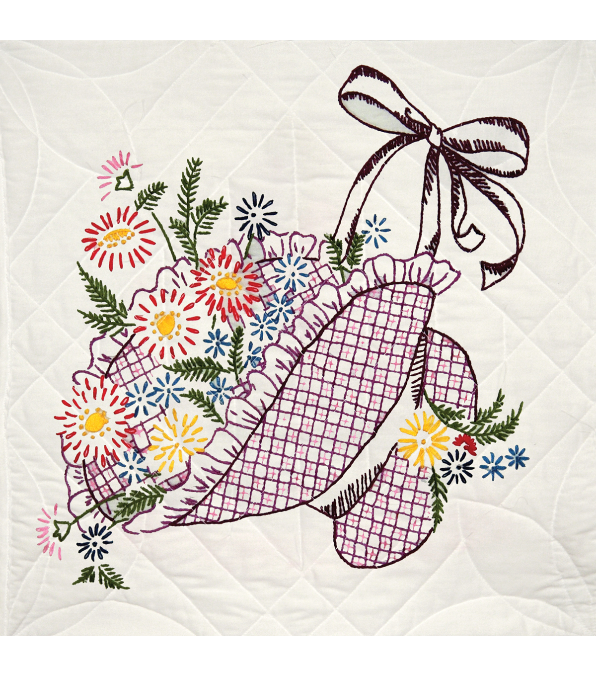 Fairway Stamped Quilt Blocks Flower Bonnet