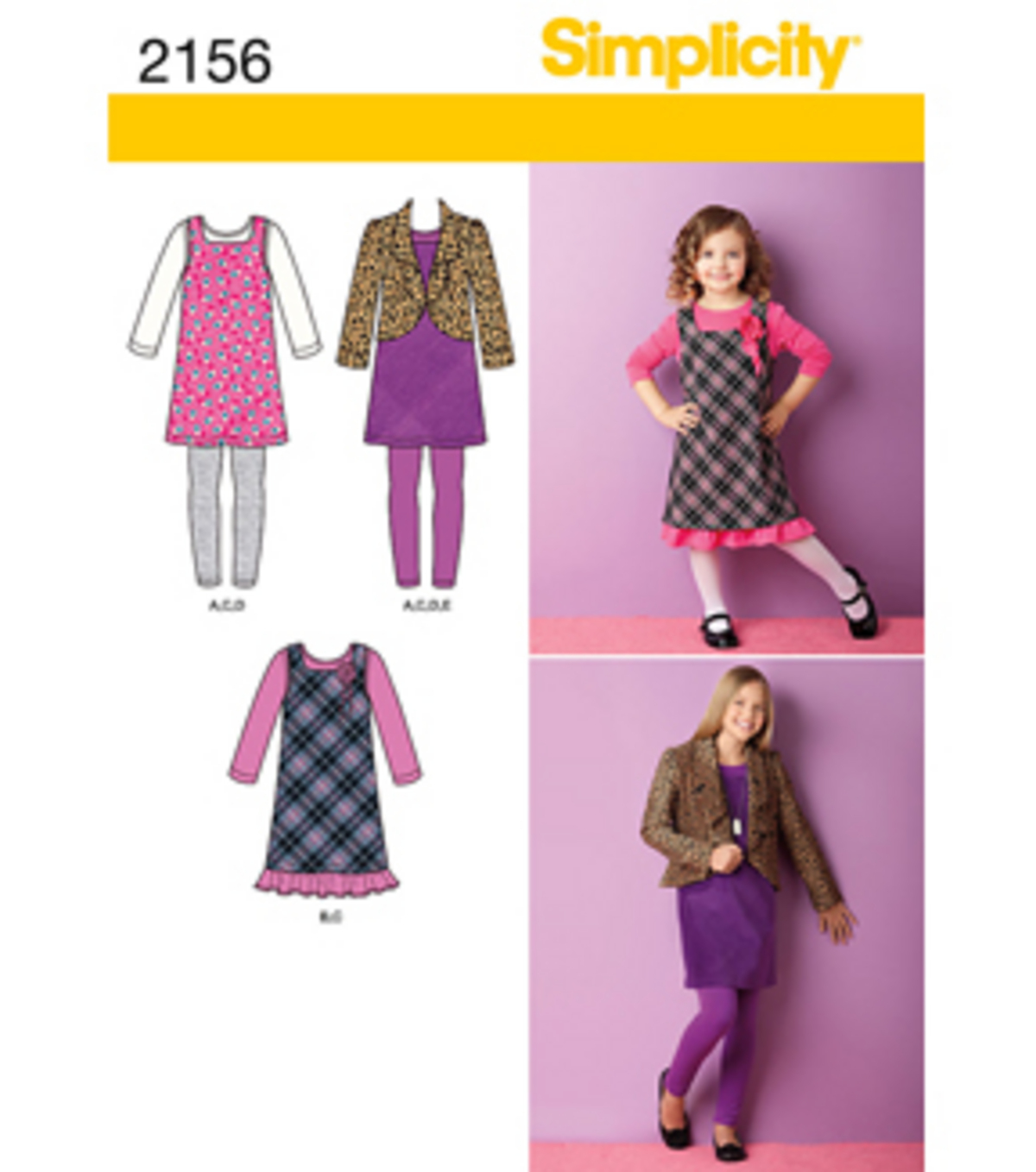 Simplicity Pattern 2156K5 7-8-10-12--Simplicity Child Gir