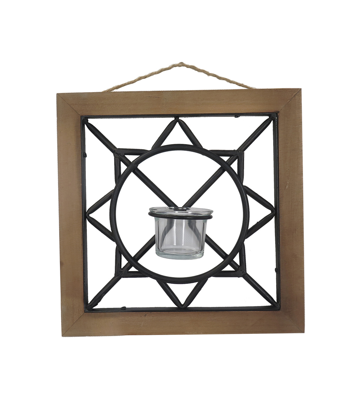 Summer Sol Geometric Wall Candle Holder C