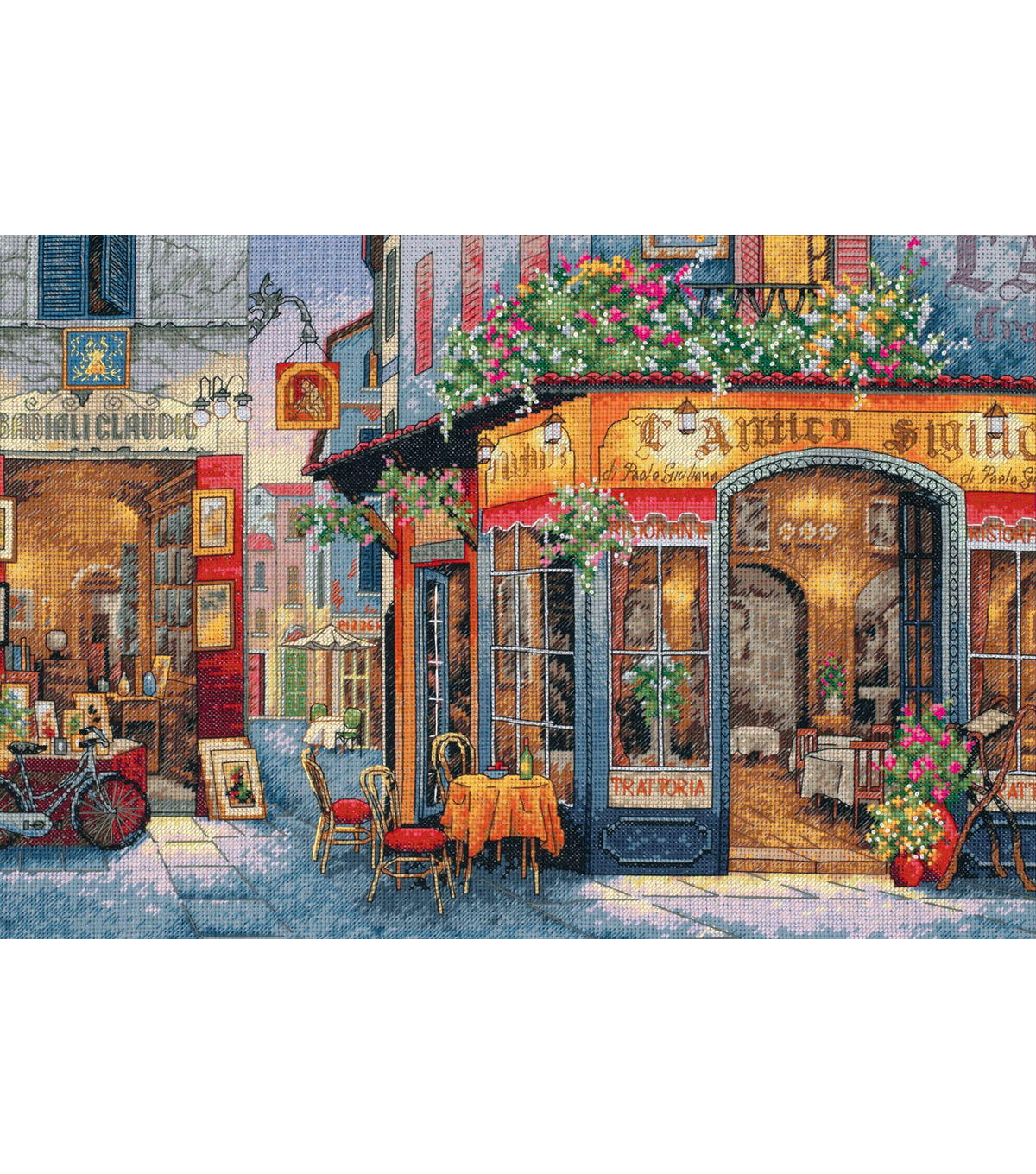 Dimensions® Gold Collection Counted Cross Stitch Kit-European Bistro