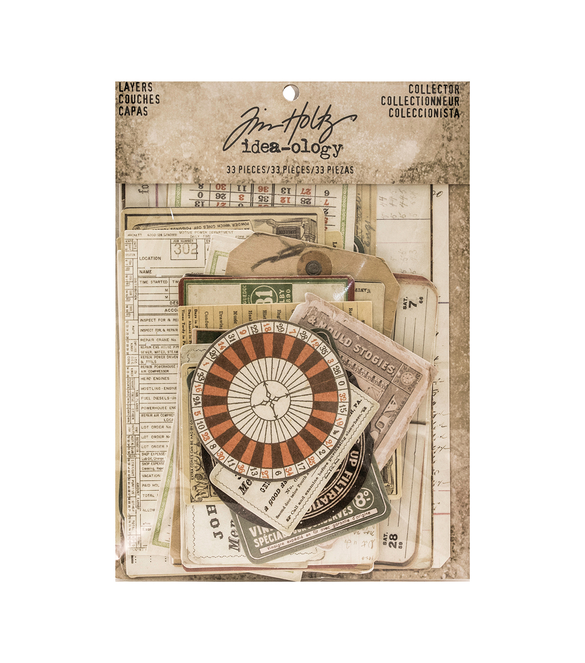 Tim Holtz® Idea-ology® Pack of 33 Collector Layers