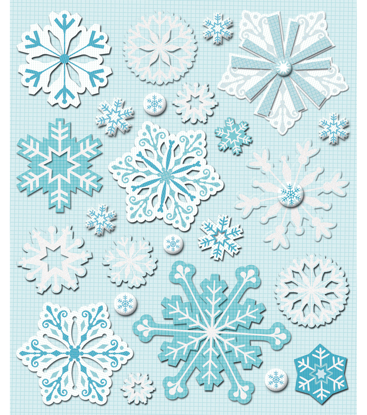 Sticker Medley-Snowflakes