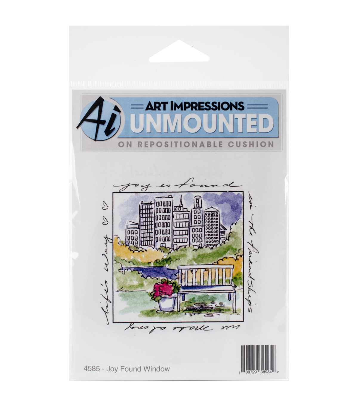 Art Impressions Windows To The World Joy Spent Window Cling Stamp