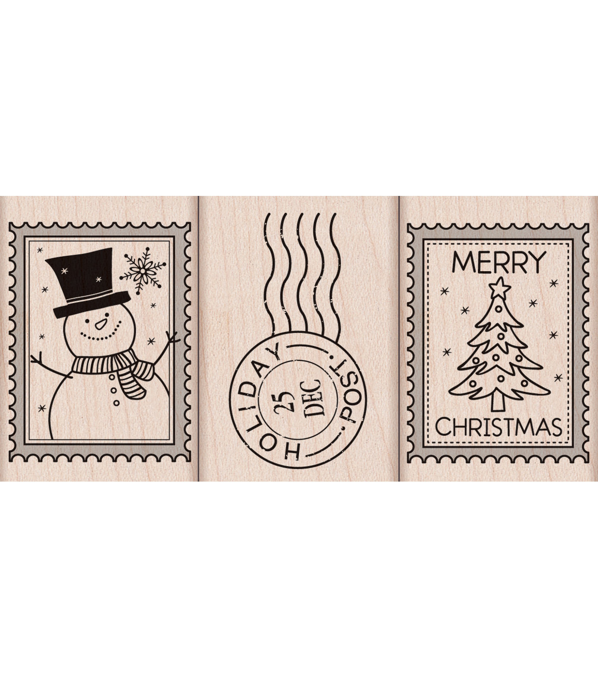 Hero Arts Mounted Rubber Stamps-Christmas Post