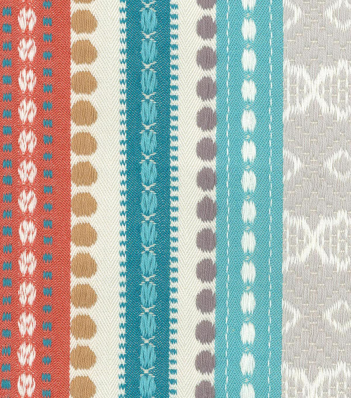 Genevieve Gorder Multi-Purpose Decor Fabric 54\u0027\u0027-Abodo Ancient Stripe
