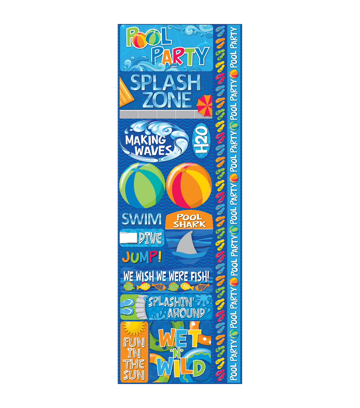 Signature Series Cardstock Combo Sticker Pool Party