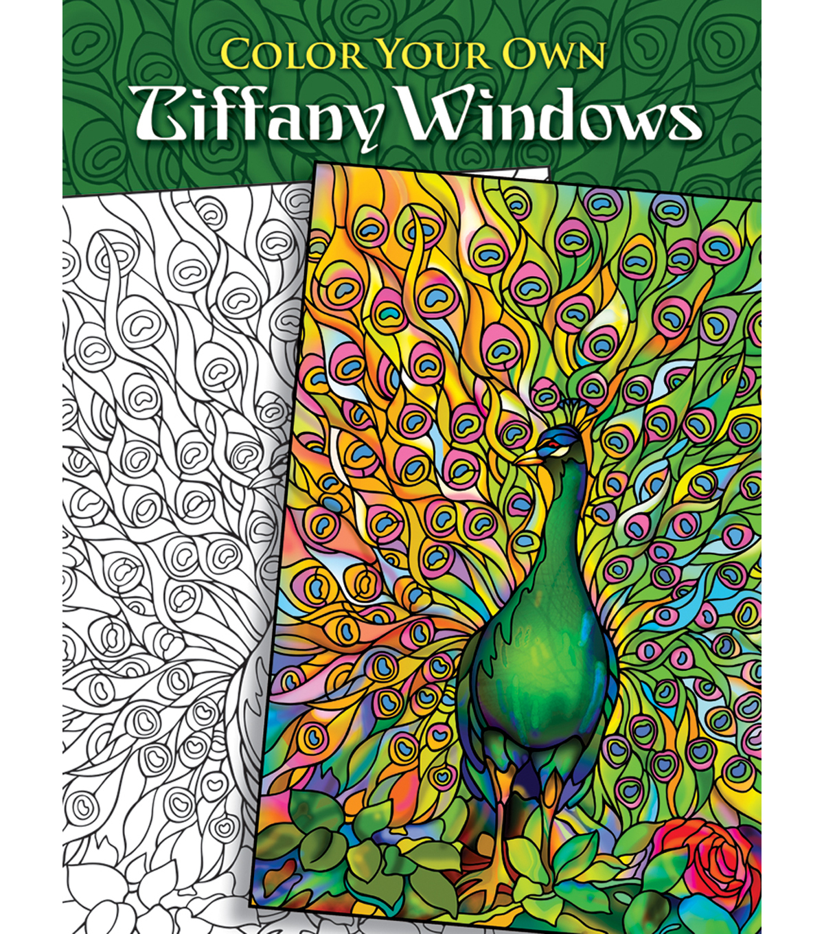Adult Coloring Book Dover Publications Color Your Own Tiffany Window
