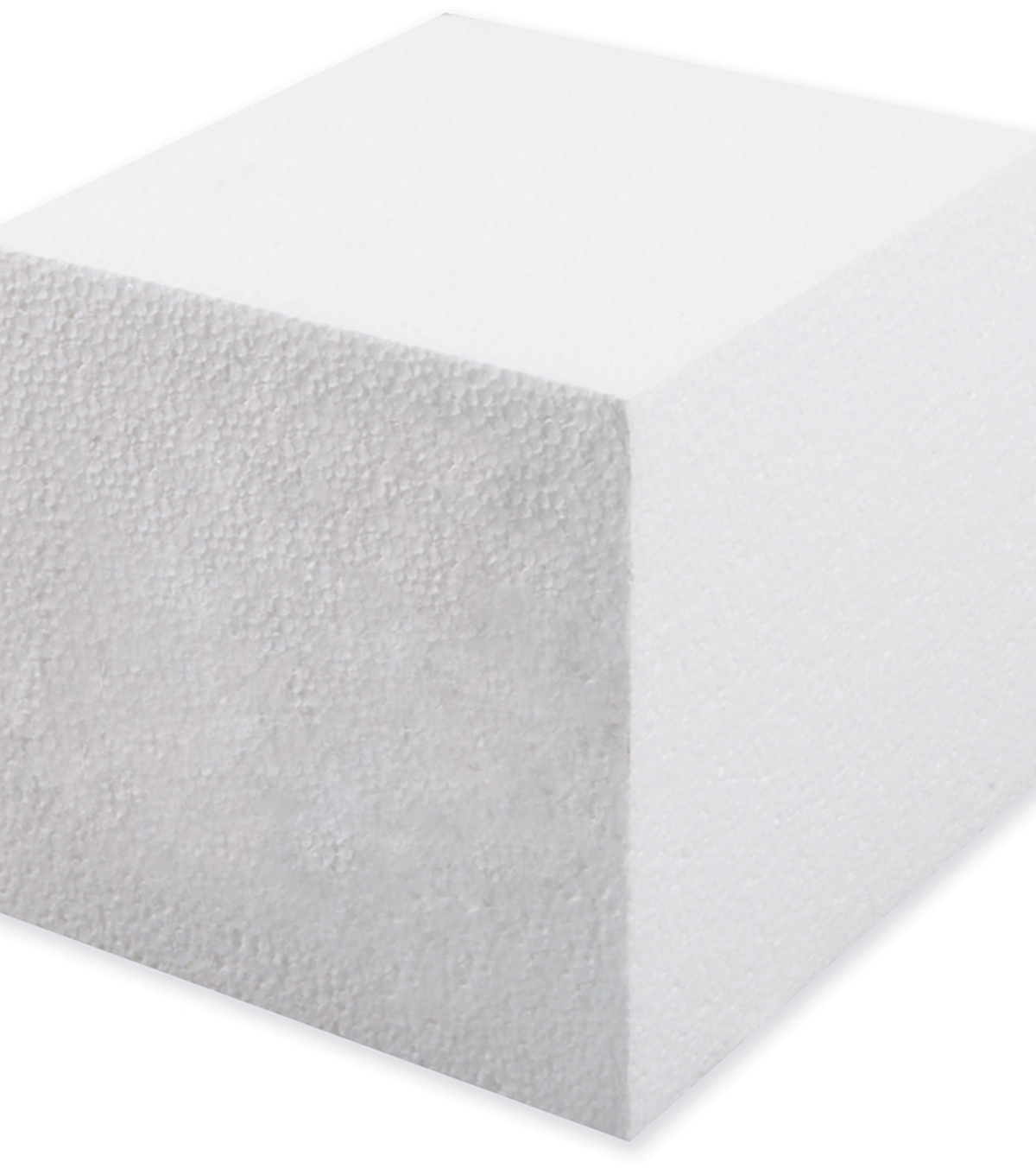 "Smooth Foam Cube 5"" 1Pk-White"