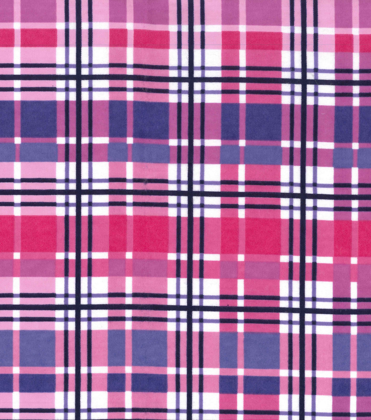 Snuggle Flannel Fabric 42''-Purple & Pink Plaid