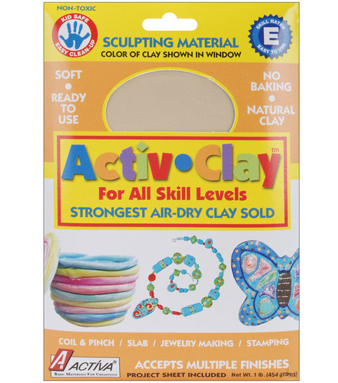 Activa Activ-Clay Air Dry Clay-1lb./White