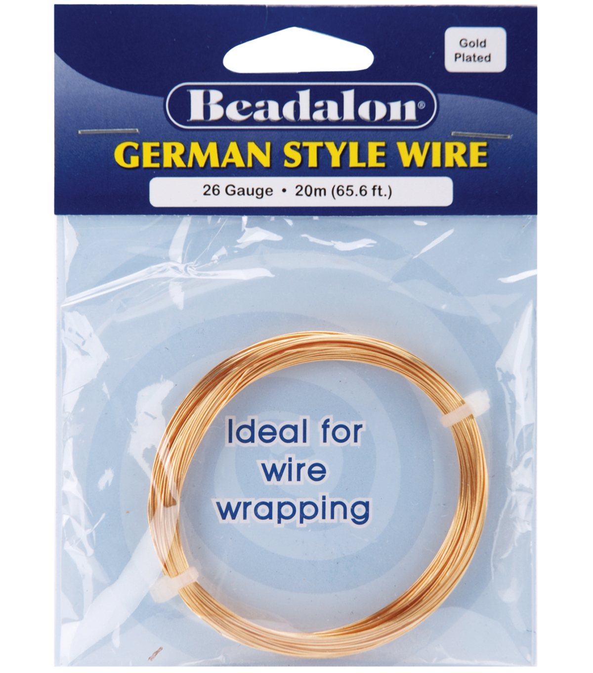Beadalon Round Wire 26 Gauge 65.5 Feet/Pkg-Gold